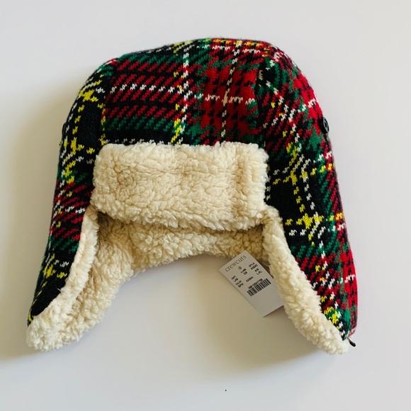 Crewcuts NWT Stewart Knit Plaid Trapper Hat Boy